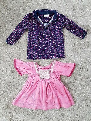 Girl's blouse tops bundle from Jojo Maman Bebe & Monsoon Age 4-5, floral & pink