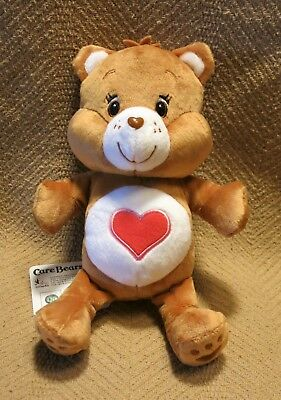 """New Brown Care Bear Tender Heart Plush 9""""T Imported Japan"""