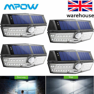 MPOW 30 LED Solar Lights Motion Sensor Outdoor Security Lights For Garden Yard