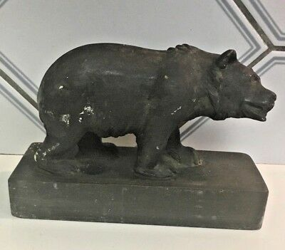 Vintage hand carved wood bear figure