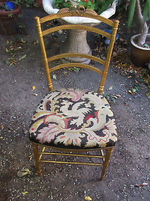 chair ART NOUVEAU Vienna Secession Golden Wood chair  COVER Tapestry EAGLE
