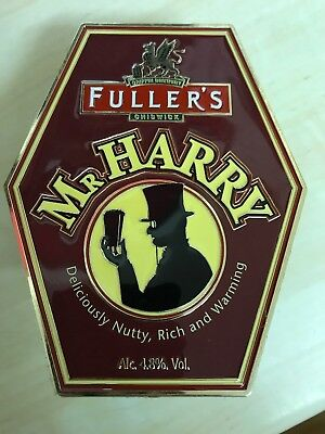 Mr Harry Fullers Brewery beer pump clip with backing clip. Rare!!