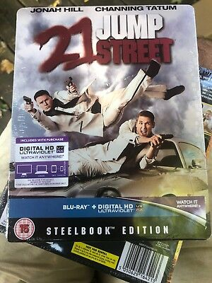 BRAND NEW! FACTORY SEALED! 21 Jump Street - Limited Edition Steelbook Blu-ray