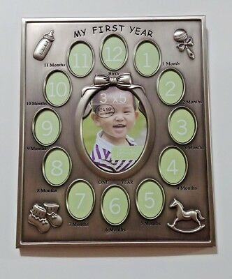 Green Tea Gallery My First Year Picture Frame Monthly Photo Display Baby Gift