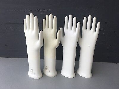 Vintage Porcelain Glove Mold Decorative Art Object Germany Industrial Salvage