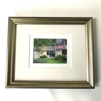Janet Laird Lagassee Miniature Painting Gatehouse Acadia Watercolor 3.25x4.75