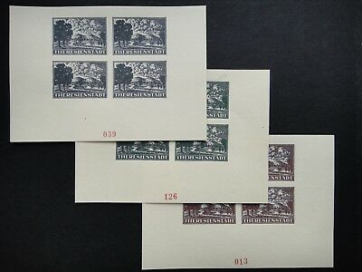 Germany Nazi 1943 MINT Concentration Camp Imperf Sheet stamps B&M Theresienstadt