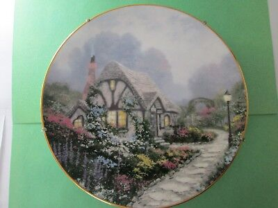 """Thomas Kinkade"""" Chandlers Cottage"""" Limited Edition Plate #17838A ,w/wall hanger"""