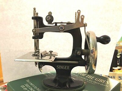 """Antique Sewing Machine, 1914 Cast Iron Sewing Machine """"A Singer For The Girls"""""""