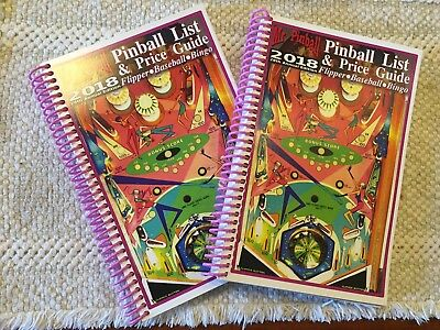 (2 Copies) 2018 Mr. Pinball Price Guide covers Pinball Machines, Baseball, Bingo