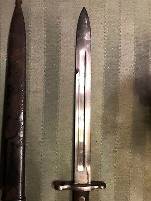1898 krag bayonet with original scabbard never repaired or restored