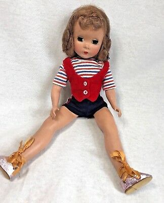 "Vintage Madame Alexander Doll 14"" ballet dance red white blue 1950's gymnastics"