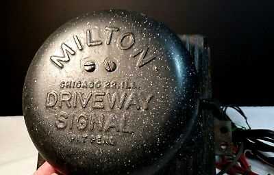 Vtg Milton Gas Station Or Driveway Signal Bell Mounted On Box Untested Steampunk