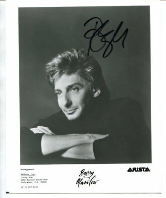 Barry Manilow signed autograph NO RESERVE B5274