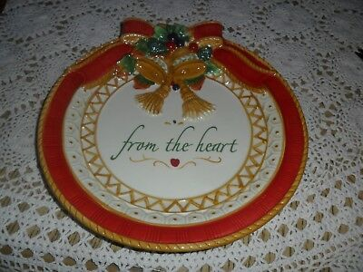 """Fitz And Floyd Holiday Cookie Platter """"from The Heart"""""""