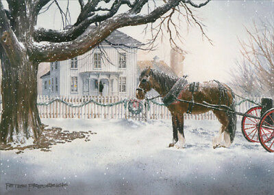 Horse and Carriage LPG Greetings Christmas Card