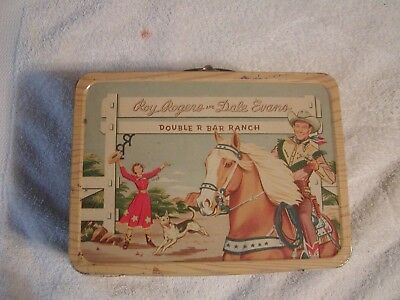 Vintage 1950s Roy Rogers and Dale Evans Double R Bar Ranch Lunch Box and Thermos