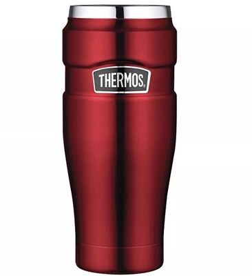 Thermos Stainless King 16-Ounce Travel Tumbler, Cranberry Red