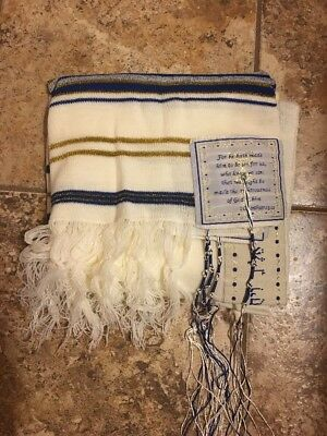 Jewish Kosher Traditional Kids BoysTallit Talit Talis Prayer Shaw Made in Israel