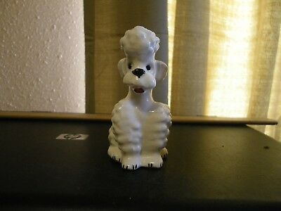 VINTAGE GOEBEL WHITE FRENCH POODLE FIGURINE W GERMANY KT 160 1950's