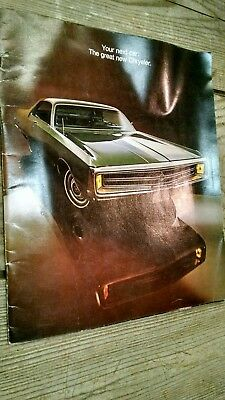 Vintage 1969 Chrysler Advertising Dealer Sales Brochure