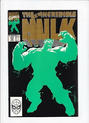 Incredible Hulk 377 2nd Print Fluorescent Inks on Cover VF/B Book Lot of  1