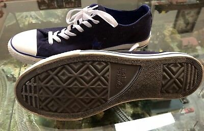 Converse One Star Canvas Navy Blue White Casual Lo Sneakers Shoes Men's Size 12