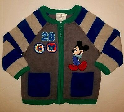 Disney Baby by Disney Store Infant Boy's  Mickey Sweater  -Size 9-12 Months