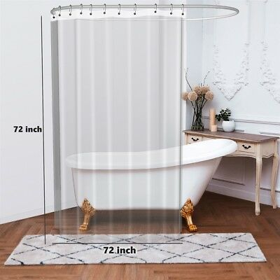 PEVA Frost Shower Curtain Liner With Magnets Mildew Free Non Toxic