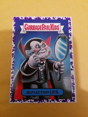 2018 Garbage Pail Kids Oh The Horror-Ible! Jelly Purple Card 4A Reflection Les