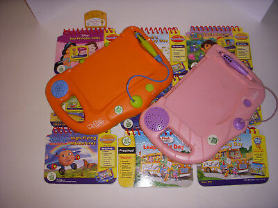 Lot Of 2 Leap Frog My First Leap Pads + 9 Books/cartridges