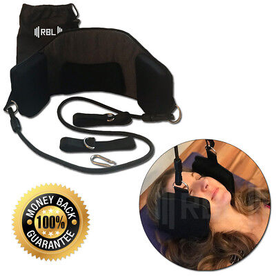 Neck and Head Hammock Traction Support for Relief of Stiff Neck Pain