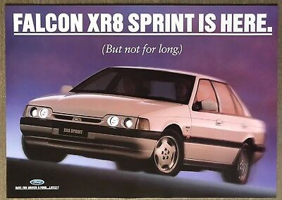 1994 Ford Falcon XR8 Sprint original Australian sales leaflet/brochure