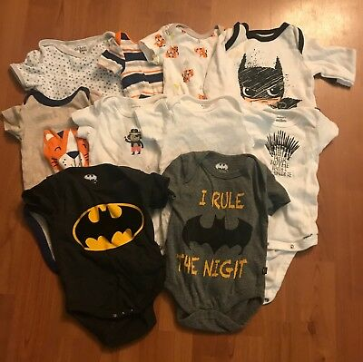 Lot of Baby Boy Bodysuits - clothes 0-3 months