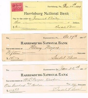 COLLECTION OF EIGHT over 100 year OLD CANCELLED NOTES (CHECKS) FROM THE 1800'S+