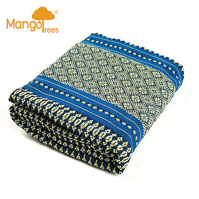 Protector Case Cover For Jumbo Size Thai Triangle Cushion Daybed Blue
