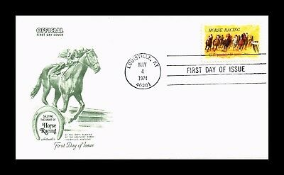 Dr Jim Stamps Us Horse Racing Kentucky Derby Centennial First Day Cover 1974