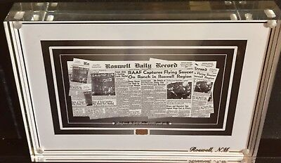 Roswell NM Dirt From Area 51 UFO Crash Site 1947 Acrylic Case & COA