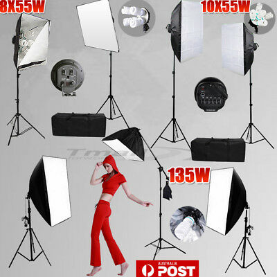 Photo Studio 1/4/5HEAD Softbox Continuous Video Lighting Light Boom Stand KIT-AU