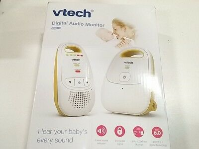 VTech DM111 Audio Baby Monitor with up to 1,000 ft of Range, 5-Level Sound In...