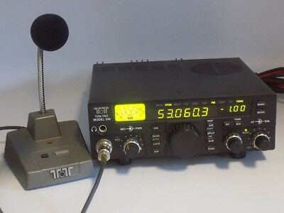 Very Rare Ten-Tec 526 6N2 Two And Six Meter Fm/cw/ssb Transceiver With Desk Mic.