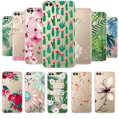 Slim Patterned Clear Soft TPU Case Cover For Huawei P Smart P20 Lite Y5 Y6 2017
