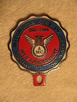 ANTIQUE MOTORCYCLE CLUB OF AMERICA INC. 40TH ANNIVERSARY 1954-1994 Badge Emblem
