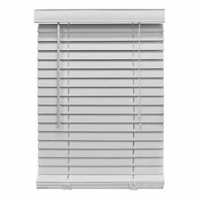 Homepointe 3064FWW White Fauxwood Mini Blind, 2-Inch by 30-Inch by 64-Inch