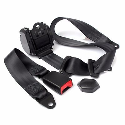 3 Point Retractable Car Seat Belt Bolt Automatic Safety Strap Buckle Adjustable