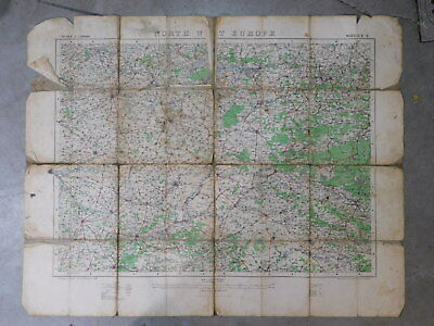 WW1 British Map, war office 1915, Western Front, Amiens, Somme, Cambrai