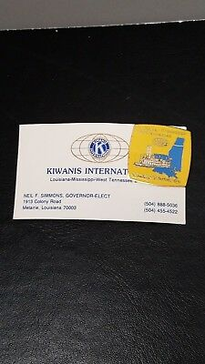 Louisianna Mississippi West Tennessee Kiwanis International Pin Simmons Governor