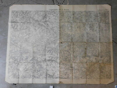 WW1 Military map, 2nd army, western Front, Cambrai
