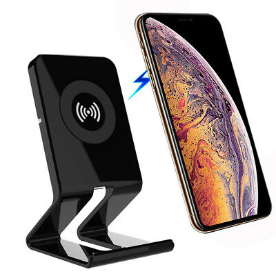 For iPhone X XS Max XR 8 Plus Qi Wireless Slim Charger Charging Stand Dock Pad