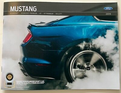 2019 FORD MUSTANG - Brand New Dealer Brochure (40 pages)